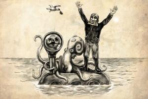 моряк и осьминог