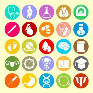 Vector Icons of medical subjects